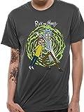 Rick and Morty Spiral Camiseta Gris marengo XL