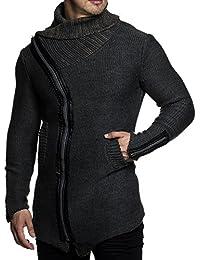 Tazzio 15450 Veste en tricot pour homme avec col original