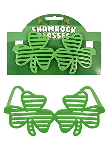 en Shamrock Clover Shutter Glasses Fancy Dress (Patrick Games)