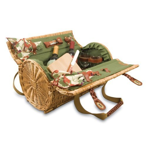 picnic-time-verona-insulated-wine-basket-with-wine-cheese-service-for-two-pine-green-by-picnic-time
