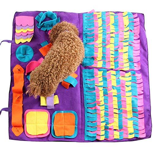 F & Z Hunde Schnüffelteppich Geruchsentraining, Geruchssensation Gymnastikmatte Spielmatte Spielzeug