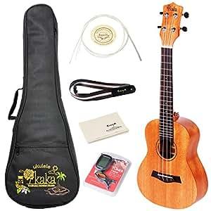 Kaka kuc 25d haut ukul l de concert en acajou massif avec for Housse ukulele concert
