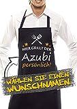 Comedy Grill Schürze - Hier GRILLT DER Wunschname PERSÖNLICH - Motiv 6