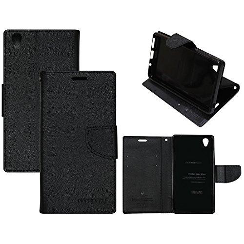 Casotec Goospery Fancy Diary Wallet Flip Case Cover for Vivo Y51L - Black