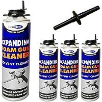 3x 500ml schiuma pistola professionale Può Solvente pulizia/rimozione
