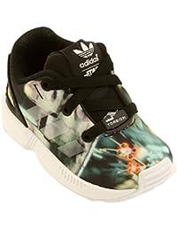 big sale c4603 a9233 adidas B24719 Kids Infant ZX Flux Millenium Falcon EL I CBLACK REFLEC FTWWHT
