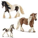 Schleich Horse Club - Tinker Familie - 13831 Hengst, 13773 Stute u. 13774 Fohlen
