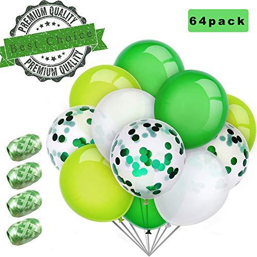 Sunshine smile 60 Stück Luftballons Grün, Ballons,konfetti Luftballons,Luftballons Hochzeit,Latex Glitter Ballons,Heliumluftballons,partyballons,Verdicken 3.2G, 4 Farbe.