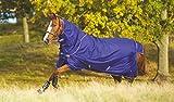 Horseware Regendecke Amigo Hero 6 Plus 145cm 200g Füllung Atlantic Blue / Atlantic Blue & Ivory