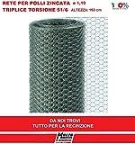 25 mt RETE 51/6 ø 1,1 H 150 cm POLLI ZINCATA RECINZIONE TRIPLICE TORSIONE GALLINE POLLAIO MARRA EDILE MARRAGROUP