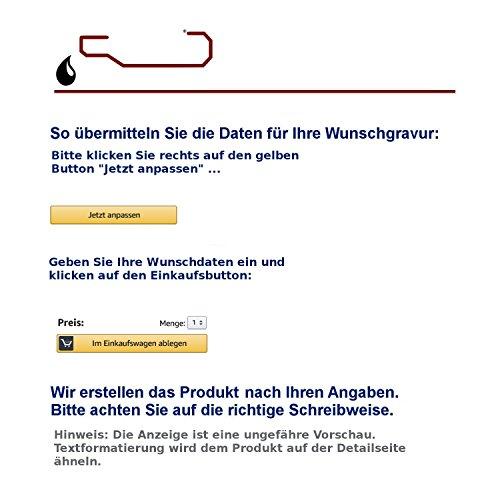 Schiefertafel mit Lasergravur Name Str. Nr. und Ihrem Text/Daten in der gewünschten Schriftart - 2