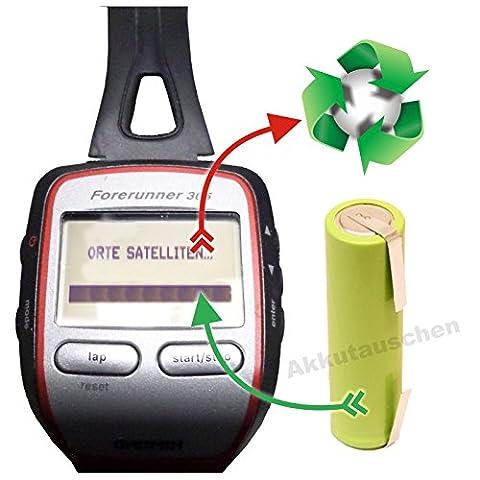 PREMIUM-Akkutauschservice/Akkuwechsel für Laufuhr/GPS Garmin Forerunner 205/305 *Akkutauschen.de ist ausgezeichnet mit dem Qualitätssiegel Werkstatt N des Rates für Nachhaltige (Garmin 310 Xt)