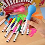 #6: MSGH Set of 12 Magic Spray Blow Marker Pens (Assorted Colors)