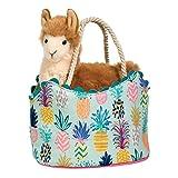 Cuddle Toys 2190Pineapple Sak with Llama Plush Toy Lama Plüschtier in der Tasche Kuscheltier Stofftier Plüsch Spielzeug