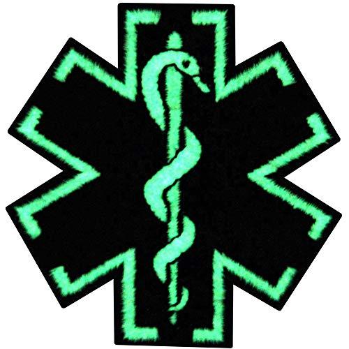 Kostüm Armee Sanitäter - Taktisch Medic Sanitäter Stern des Lebens EMS Bestickter Glühen Im Dunklen Aufnäher zum Aufbügeln / Annähen