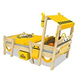WICKEY Autobett CrAzY Sparky Pro Kinderbett 90x200cm Bagger mit Lattenboden
