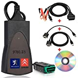 BOSmutus PP2000 OBD2 Scanner, PP2000 Lexia 3 V48 V25 Diagbox Citroen Sedan 7.83 Compatible. Tools Engine Diagnostics Tool OBD-II EOBD/OBD 2 Motor System (Black)