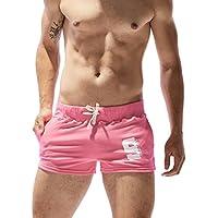 SEOBEAN Pantalones Cortos de Entrenamiento para Hombre de bajo Nivel Deportivo