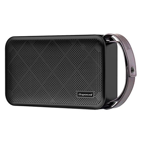 Simpowel V10 - Bluetooth Lautsprecher 4.0 Tiefer Bass 20W Tragbar Drahtloser Lautsprecher Mit TI 5 Serie DSP und Einbauen Micro SD MP3 plaer Mikrofon Bis zu 10 Stunden Spielzeit (Schwarz) (Wireless Sound-bars, Subwoofer)