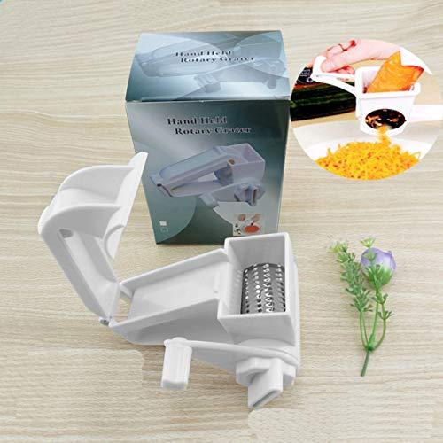 Momorain Edelstahl-Käsereibe Manuell drehbare Klassische ABS-Kunststoff-Dreh-Nüsse und Schokoladenhobel-Gemüsereibe