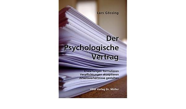 Der Psychologische Vertrag Erwartungen Formulieren Verpflichtungen