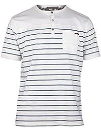 Caterpillar Billet - T-shirt à manches courtes et col Henley 100% coton - Homme