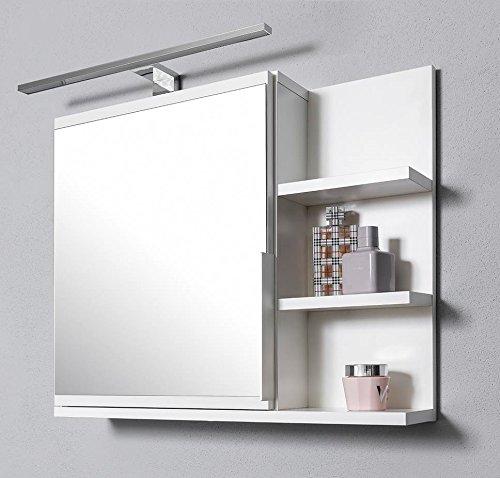 DOMTECH – Armario con espejos para cuarto de baño, color blanco
