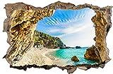 Strand Meer Insel Wandtattoo Wandsticker Wandaufkleber D1372 Größe 70 cm x 110 cm