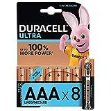 Duracell Ultra, lot de 8 piles alcalines Type AAA 1,5 Volts LR03 MN2400...