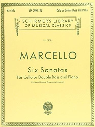 6 Sonatas (Bacon-Drew) -For Vlc Or Db/Pf- (Lb1898): Noten für Cello (Kontrabass) Klavier (Schirmer\'s Library of Musical Classics)