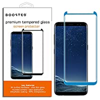CASE FRIENDLY, Samsung Galaxy S8, BOOSTED 9H hardness Case friendy screen protector with Oleophobic Coating Anti Fingerprint Anti-Scratch High Touch Sensitivity, BLUE