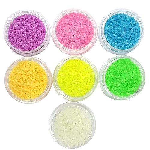 Vococal® 7 Pack Noctilucent Bead Pierres de Bricolage pour Nail Art Conseils