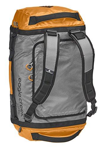 Eagle Creek Wasserabweisender Backpacker Cargo Hauler Duffel ultraleichte Reisetasche mit Rucksacktagegurte, 120 L, Schwarz orange/grey