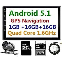 Panlelo PA09YZ16, 7 Pulgadas 2 Din Head Unit Android 5.1 GPS Navegación Estéreo de Coche Audio Radio 1080P Video Player ARMv7 Quad Core Built in Wi-Fi Bluetooth AM/FM/RDS Steering Wheel Control