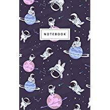 """Notebook: Cute Space Astronaut Floating - Beautiful Design: 5.5"""" x 8.5"""" lined pages. Great for note-taking/Composition/Writing/Planning/Diary/Gift"""