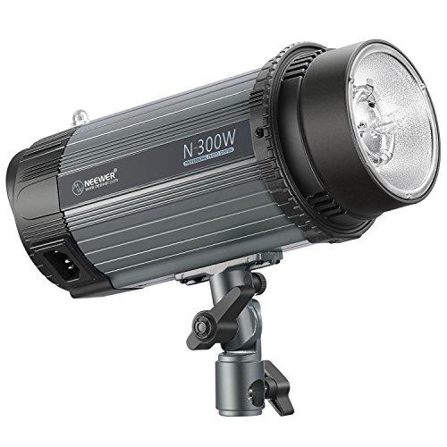 Neewer 300W 5600K Foto Studio Strobe Blitzlicht Monolight mit Modellierlampe, Aluminiumlegierung Professional Speedlite für Indoor Studio Location Modell Fotografie(N-300W) Foto Studio Strobe Light