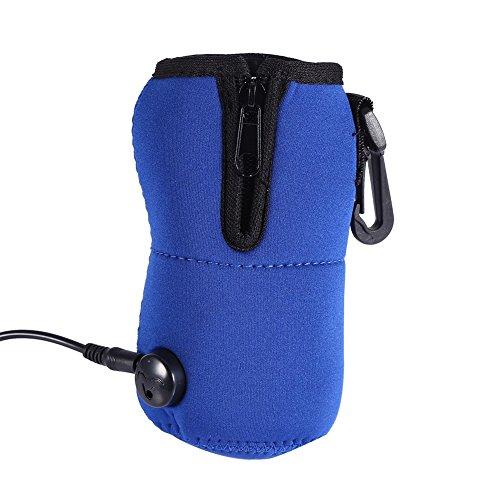 Portable de lait de lait Bouteille d'eau de chauffage thermique Sac Sac porteur stockage Titulaire pour les enfants bébé enfant, bleu