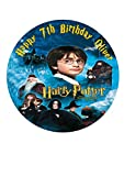 Kuchendekoration/Kuchendeckel, Harry-Potter-Motiv Y1, personalisierbar, aus Zuckerguss, 19,05cm