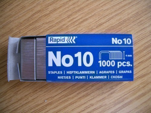 Rapid Number No. 10 - Grapas x 1000 caja grapadora