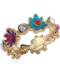 Fasherati Weinlese-Schmucksache-süßer Farben-Gänseblümchen-Blumen-Ring für Mädchen