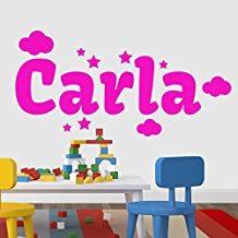 Vinilos nombres Carla 60X30 cm. Color Fucsia