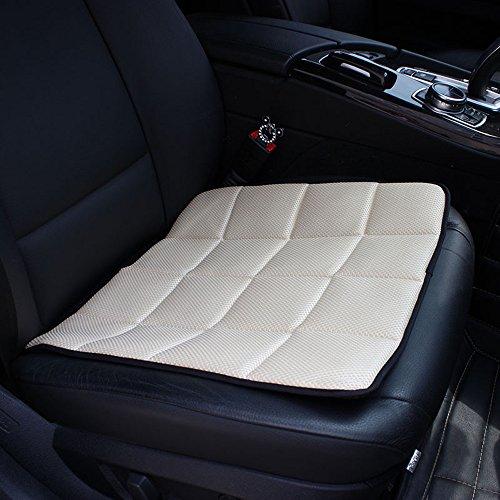 Cdycam Atmungsaktiv Auto Sitzauflagen ,Bambus Anthrazit Auto Sitzbezug Pad Matte für Auto Büro Stuhl Kissen (creme) -