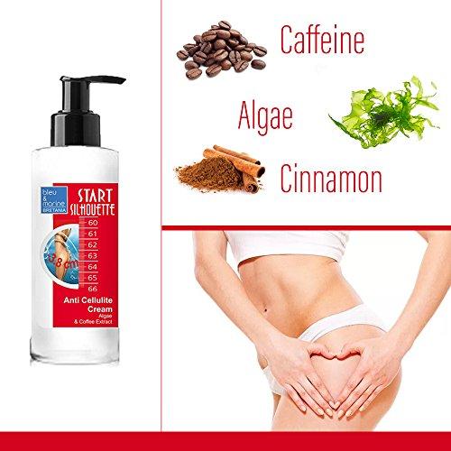 Algen & Kaffee Anti Cellulite Creme 200ml Cellulite-Creme mit Caffeine - Straffender Körper - Anti-Cellulite - Abnehmen - Anti-Cellulite und Fettflecken - Ideal für Beine und Hüften