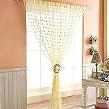 Homesazz Heart Shape String Curtain-BEIG...