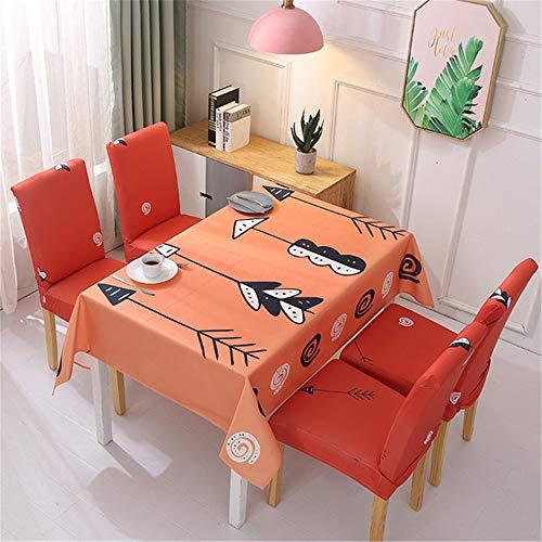 qwdf wasserdichte Tischdecke Tischdecke Nordic kleinen frischen Stoff Kunstdekoration Tisch und Stuhl Set elastische All-Inclusive-Stuhlbezug