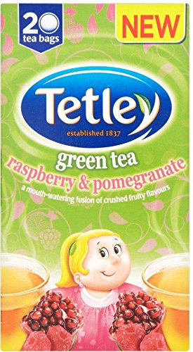 Tetley Green Tea with Raspberry & Pomegranate (20) - Pack of 2