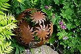 Dekokugel, Rost Ø 30cm Sonne
