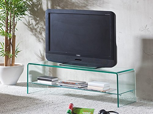 TV Regal Glasregal Fernsehtisch Glastisch 110 cm -