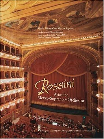 Rossini Arias for Mezzo-Soprano & Orchestra Music Minus One Mezzo-Soprano with CD (Audio)