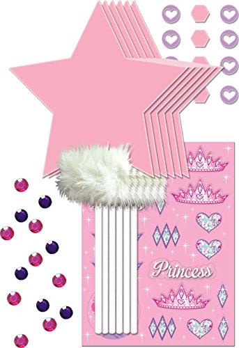 Unbekannt Creative Converting 4Zählen Gastgeschenken Prinzessin Party Wand Dekorieren Kit, Pink